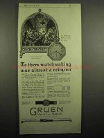 1918 Gruen Octathin Verithin Watch Ad - A Religion