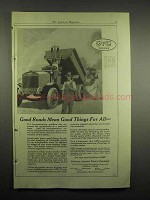 1918 GMC Truck Ad - Good Roads Mean Good Things