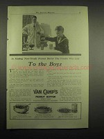 1918 Van Camp's Peanut Butter Ad - To The Boys