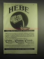 1918 Hebe Evaporated Skimmed Milk Ad - New Product