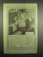 1918 Ivory Soap Ad - To Wash Blankets