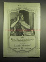 1918 Ivory Soap Ad - 99% Pure - Woman Brushing Hair