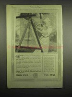 1918 Ivory Soap Ad - 99% Pure - Woman Washing Lace Curtains