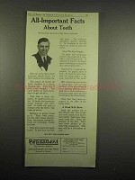 1918 Pepsodent Toothpaste Ad - All-Important Facts