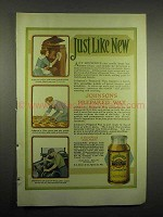 1918 Johnson's Prepared Wax Ad - Just Like New