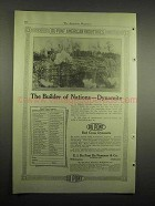 1918 Du Pont Red Cross Dynamite Ad - Builder of Nations