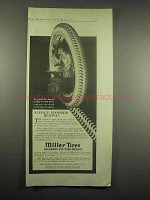 1917 Miller Tires Ad - Sledge Hammer Blows