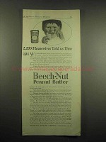 1917 Beech-Nut Peanut Butter Ad - 2,200 Housewives