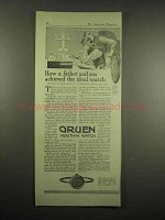 1917 Gruen Verithin Watch Ad - Achieved The Ideal