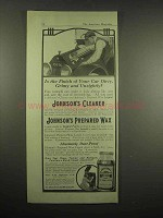 1917 Johnson's Cleaner, Prepared Wax Ad - Your Car
