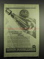1917 Edison Mazda Lamps Ad - Cost Electric Light Lower