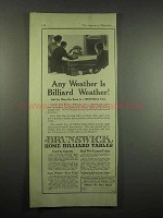 1917 Brunswick Home Billiard Table Ad - Any Weather