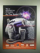 2000 Meade ETX-60EC Astro Telescope Ad - Speed of Sight