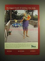 1998 Trex Decking Ad - Willard Scott