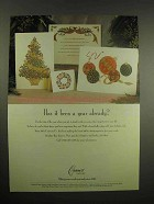 1997 Crane's Holiday Card Ad - Been a Year Already?