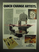 1992 Delta Bench Band Saw, Scroll Saw Ad