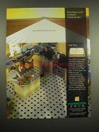 1991 Mannington Gold Floor Ad - Outshines Armstrong