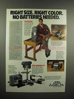 1991 Delta Power Tools Ad - Right Size Right Color