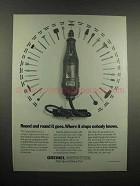 1991 Dremel Moto-Tool Ad - Round and Round it Goes
