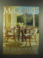 1990 McGuire Furniture Ad - Table & Chairs