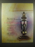 1989 Stiffel-Baccarat Lamp Ad - When Legends Unite