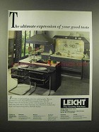 1988 Leicht Kitchen Ad - Ultimate Expression of Taste
