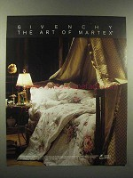 1988 Martex Bedding, Sheets Ad - Givenchy