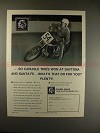 1972 Carlisle Tire Ad, with Ed Sally on Motorcycle!!