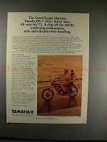1972 Yamaha DS-7 Motorcycle Ad - The Great Escape!!