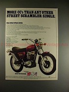 1972 BSA Gold Star 500SS Motorcycle Ad - More CC's!!