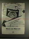 1973 VW Volkswagen Beetle Car Ad - Waste Not Want Not!