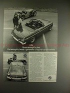 1973 MG MGB Car Ad - Room Enough For Two, Fun Enough!!