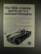 1973 MG Midget Car Ad -  A National Chamption, NICE!!