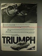 1975 Triumph TR7 TR-7 Car Ad - The Shape of Things!!