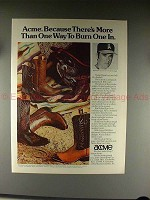 1976 Acme Boots Ad w/ Nolan Ryan - Way to Burn One In!!