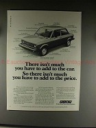 1976 Fiat 128 Custom Car Ad - Isnt Much you Have to Add
