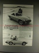 1976 MG MGB Car Ad - To Everyone Who Longs to Soar Free