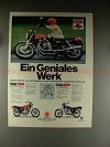 1977 Suzuki GS750, GS400 Motorcycle Ad, in German!!