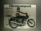 1977 Yamaha XS500 XS-500 Motorcycle Ad - in German!