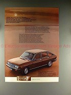 1977 Lancia Beta Limousine 1600 Ad - in German - NICE!
