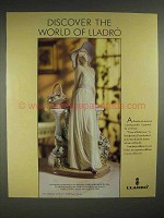 1988 Lladro Time of Reflection Ad - Discover the World