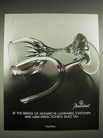 1987 Baccarat Crystal Ad - Monarchs, Luminaries