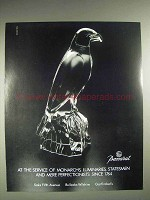 1987 Baccarat Crystal Bird Ad - Monarchs, Luminaries