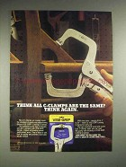 1987 Vise-Grip C-Clamp Tool Ad - Think Again