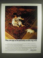 1986 Karastan Rug Ad - May You Age As Beautifully