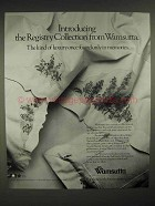 1986 Wamsutta Registry Collection Linens Ad