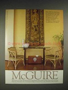 1985 McGuire Furniture Ad - Chairs