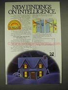 1985 PPG Sungate Windows Ad - Findings on Intelligence