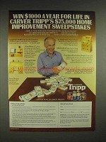 1982 Carver Tripp Stain Ad - Harry Morgan