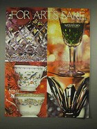 1982 Waterford Crystal, Aynsley China Ad